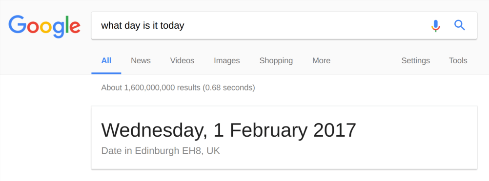 What day is it today?